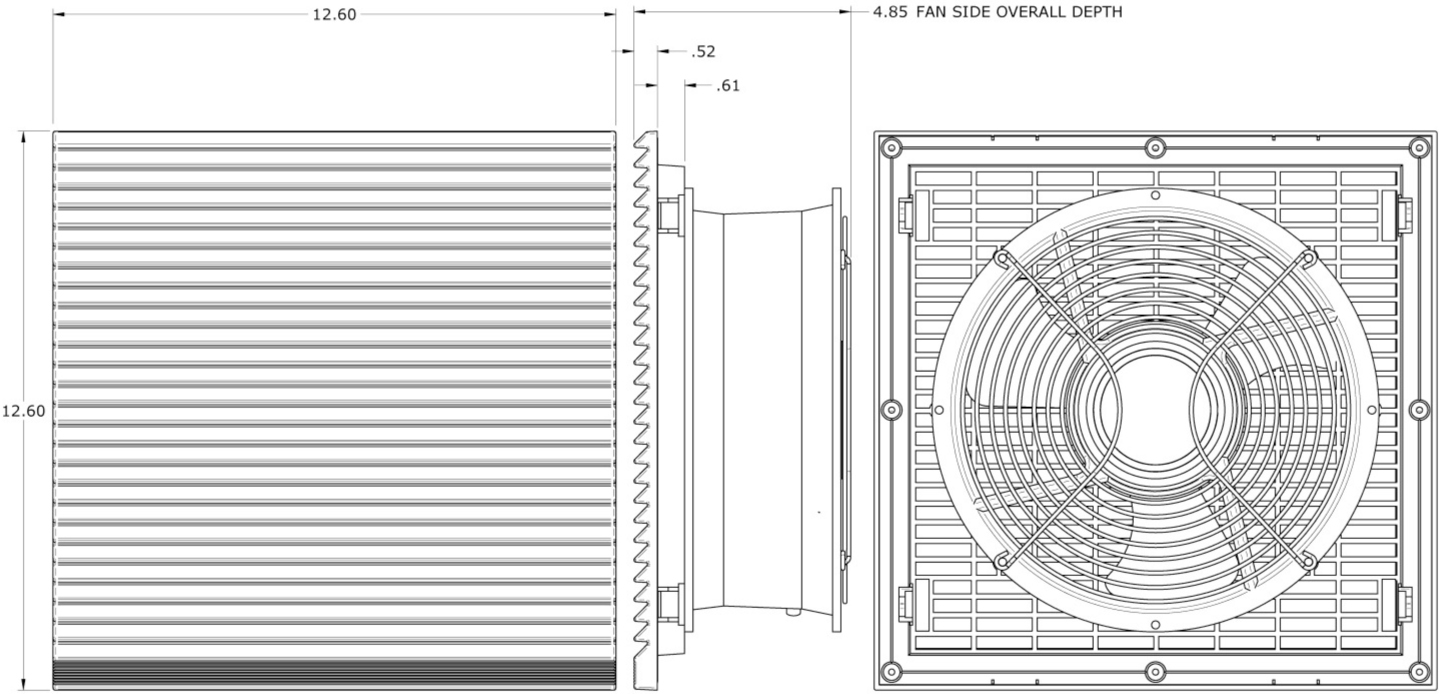 Plastic Filtered Fan Packages - PFFP500 - 500 CFM