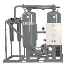 D externally heated twin tower dryers