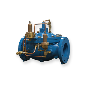 Pressure Reducing Valve with Downstream Surge Protection 106-PR-S and 206-PR-S Singer