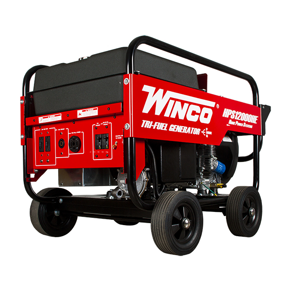 12,000 watt tri fuel portable generator, gas ng lp, winco hps12000he12,000 watt tri fuel portable generator, gas ng lp, winco